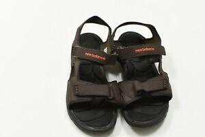 New Balance Adjustable Straps Memory Foam Brown Sandals Men's Size 12W