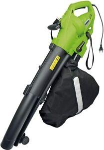Mannesmann Leaf Blower Garden Vacuum Shredder Vac 45L Bag 3000W GS VPA TUV