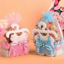 12 Fillable Baby Shower Favors Blue Pink Party Decorations Girl Boy Basket Bags
