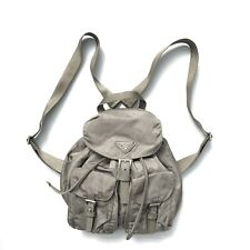 Prada Vintage Small Backpack Bag Khaki  Nylon Authentic