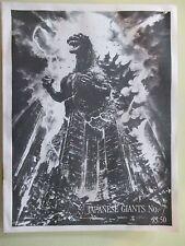 JAPANESE GIANTS MAGAZINE #7 GODZILLA/GIGAN BLUE PRINTS/ATRAGON STORY 1985 HTF