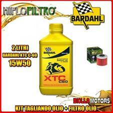 KIT TAGLIANDO 2LT OLIO BARDAHL XTC 15W50 HONDA CRF450 R-3,4,5,6,7,8 450CC 2003-2
