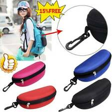 Portable Zipper Eye Glasses Clam Shell Sunglasses Hard Case Pro Protector