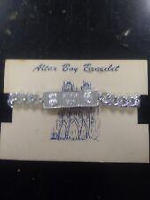 Vintage Altar Boy Bracelet scapular/ miraculous medal