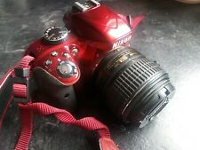 NIKON D3300 RED - CAMERA BODY AND LENS - GOOD CONDITION