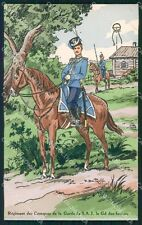 Military Russia Russian Soldier Horse Dmitroff Cosaque postcard XF3625