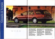 Ford Cars 1994 Edition 2 UK Market Sales Brochure Fiesta Escort Mondeo Granada