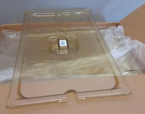 6 ea Vollrath 34100 Super Pan Full Size High Heat Slotted Lid Steam Catering