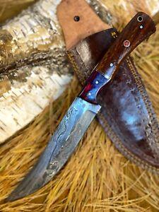 LOUIS MARTIN RARE FIXED BLADE CUSTOM HANDMADE DAMASCUS FULL TANG HUNTING KNIFE