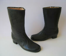 WATERPROOF BLACK RUBBER SHERPA LINED BOOTS WOMEN SIZE US 8 VTG MADE IN USA