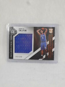 2015 Unlimited Potential Jahill Okafor numbered 142/149 relic card