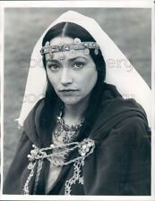 1982 Press Photo Pretty Actress Olivia Hussey in Costume For Ivanhoe TV Movie