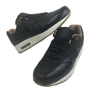 Mens Sz 9 Nike Air Max 1 FB 'Quilted Leopard' Shoes Animal Print Gum Soles Rare