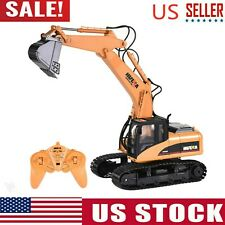 HUINA 1550 1:14 2.4GHz 15CH RC Car Alloy Excavator RTR Boy Kid Adult Toys Truck
