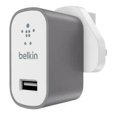 Belkin F8M731DRGRY Premium MIXIT Fast 2.4amp Mains Charger 3 Pin UK Plug Gr