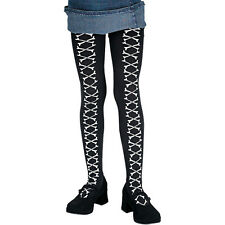 D/ceptions 2 Black With White Crossbone Print Child Pantyhose Stockings Tights