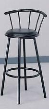 29'H Comtemporary design Classic Swivel Bar Stool Set(2) - Black Finish-Asdi