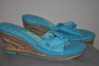 WOMEN'S Born Drilles Verano BRIGHT Wedge Sandal Slide SIZE 10/42 $85WORN ONCE