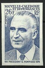 NOUVELLE CALEDONIE PRESIDENT GEORGES POMPIDOU ESSAI COLOR PROOF ESSAY ** 1975