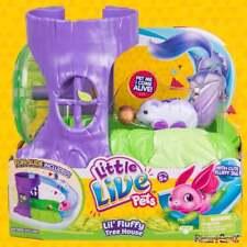 Little Live Mascotas Lil 'Fluffy Tree House Con Rueda & Slide Blanco berrytail Bunny