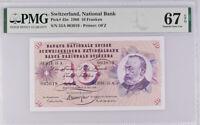 Switzerland 10 Franken 1968 P 45 n Superb Gem UNC PMG 67 EPQ High