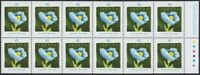BLUE POPPY = Flower = Booklet pane of 12 = Canada 1997 #1638a MNH VF