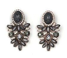 Fashion Big Crystal Flower Earrings Statement Earrings for Women Party Wedding