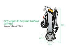 New Karman Tranzit Go Foldable Power Wheelchair light weight 51 lbs easy Fold