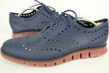 Cole Haan Zerogrand Grand OS Mens 11 M Navy Brown Wingtip Oxford Casual Shoes