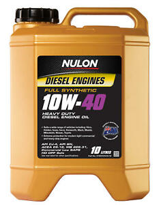 Nulon Full Synthetic Heavy Duty Diesel Engine Oil 10W-40 10L SYND10W40-10 fit...