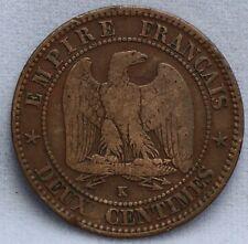 Frankrijk - France - deux 2 centimes 1862 K Napoléon III KM# 796.6