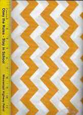 """QUILT FABRIC: 100% COTTON, GOLD 1"""" CHEVRON STRIPE, By The Yard"""