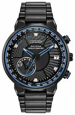 Citizen Eco-Drive CC3038-51E GPS World Time Blue Black IP Stainless Steel Watch