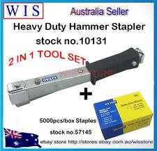 2 in 1 Hammer Tacker Carpet Underlay Stapler & 5000 10mm Staples,Insulation Job