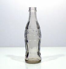 Bottiglia coca cola anni '50 vetro trasparente trade mark vintage antica v29
