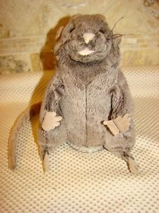 """FOLKMANIS 8"""" PLUSH BROWN MOUSE HAND PUPPET"""