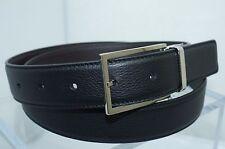 NEUF Christian Dior Homme Ceinture Noir Réglable réversible taille 110 cuir brun
