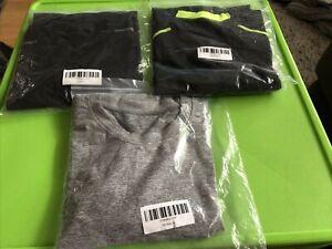 3 x XL Grey Black Mens Compression Base Layer Top Long Sleeve Sports Shirt
