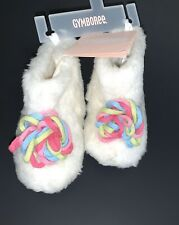 Nwt Gymboree Faux Fur Booties Crib Shoes Size 04 Baby Girl