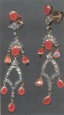 & Diamond Chandelier Earrings 18K Gold Brilliant Ruby