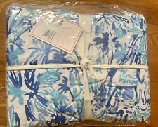 Pottery Barn Teen Lilly Pulitzer Elephant Appeal Duvet Cover king Ikat blue New