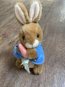 "Eden Peter Rabbit w/ Carrot by Frederick Warne 10"" Stuffed Plush Bunny EUC"