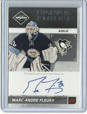 2011-12 Limited MARC ANDRE FLEURY PATRICK ROY Back to the Future Autograph 20/25