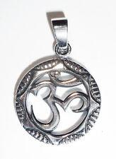 Anhänger Kette OM Symbol ECHT 925 Silber Talisman Amulett AUM 35,-   SS100