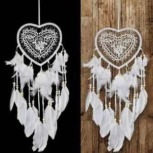 Dream Catcher Heart Handmade Knitted Indian Dreamcatcher Home Bedroom Hanging