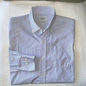 Ledbury Men's Sz 16 x 34/35 Blue Stripe Button-down Collar Shirt EUC S190609