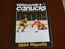 1984 Vancouver Canucks program vs CALGARY FLAMES Playoff vol.14 Game 42  April 8