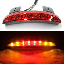 Red Led Motorcycle Turn Signals Tail Light For Cafe Racer Rear Fender Edge Brake