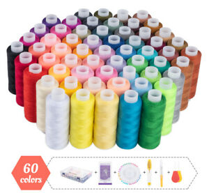 60 Stück Nähgarn Set Allesnäher Hochwertiger Nähgarn aus Polyester mit 10 Nadeln
