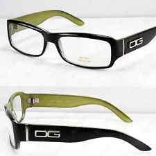 New DG Clear Lens Frame Glasses Oval Fashion Nerd Mens Women Designer Black 2T